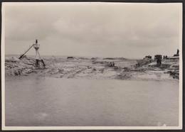 Photo Originale Honfleur - Travaux - Construction De La Cale De Lancement Terre Plein Est - 26 Août 1948 - Luoghi