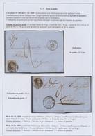 Page De Collection - 2 LAC N°6 / 10A Sur Lettre Poids > 10g Donc Taxé à 2 Décimes / Firmes (Anvers / Chatelineau) - 1849-1865 Médaillons (Autres)