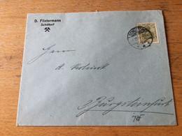 K20 Deutsches Reich 1921 Brief Von Schüttorf Nach Burgsteinfurt Bergbau - Covers & Documents