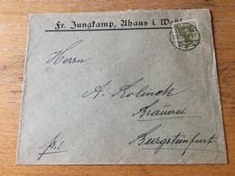 K20 Deutsches Reich 1921 Brief Von Ahaus/Westfalen Nach Burgsteinfurt - Covers & Documents