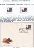 POLAND 1960 Paderewski Fi 1042 Mint Hinged + Used - Nuevos
