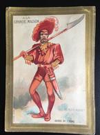 Paris Grande Maison Chromo Sicard Garde Ogre 1886 Ticket Chaise Jardin D'acclimatation Conte Petit Poucet Ogre - Sonstige