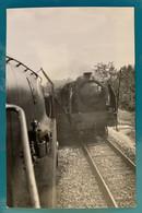 Croisement Locomotives PO Midi 231 H - Photo Train Entre Tours Et Bordeaux- Années 1930 - Avant SNCF France Locomotive - Trains