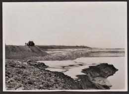 Photo Originale Honfleur - Travaux - Construction De La Cale De Lancement - Digue Est - 18 Novembre 1948 - Luoghi