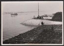 Photo Originale Honfleur - Travaux -Matelas Terminé Sur Cale De Lancement - Terre Plein Est - 26 Janvier 1949 - Luoghi