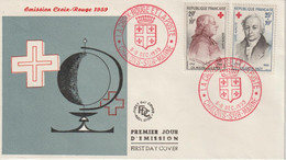 France FDC 1959 Croix Rouge 1226-1227 - 1950-1959