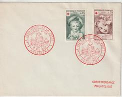 France FDC 1962 Croix Rouge 1366-1367 - 1960-1969