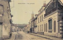 28 - COULOMBS / RUE PRINCIPALE (carte Toilée) - Altri Comuni