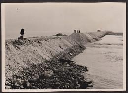 Photo Originale Honfleur - Travaux - Brèche Berge Sud-est - 8 Septembre 1949 - Luoghi
