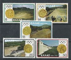 Greece 1980 Complete Series Of 5 Value Olympic Games Moscow MNH** - Unused Stamps