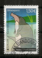 2021.Desman Des Pyrénées (Rat-trompette.Taupe Des Pyrénées).Europa Andorra FR.Oblitéré 1 ère Qualité (Espèce Vulnérable) - Used Stamps