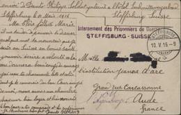Suisse Guerre 14 18 Cachet Internement Des Prisonniers De Guerre Steffisburg CAD 10 V 16  CPA CP Thun Mit Stockhorn - Postmarks