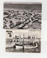 4 CPSM:ILE DE NOIRMOUTIER (85) BÂTEAUX CE PÊCHE HERBAUDIÈRE,PLAGE DE LUZÉRONDE,L'HERBAUDIÈRE VUE - Ile De Noirmoutier