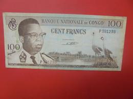 CONGO 100 FRANCS 1961 Circuler (B.23) - Democratic Republic Of The Congo & Zaire