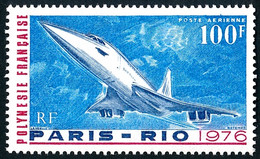 POLYNESIE 1976 - Yv. PA 103 **   Cote= 22,00 EUR - Avion Concorde : 1er Vol Commercial  ..Réf.POL25478 - Nuovi
