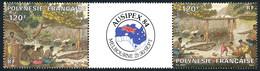 POLYNESIE 1984 - Yv. PA 185A (184, 185) **   Cote= 10,00 EUR - Tryptique Expo AUSIPEX'84  ..Réf.POL25599 - Nuovi