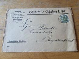 K20 Deutsches Reich 1921 Brief Von Rheine/Westfalen Nach Burgsteinfurt - Covers & Documents