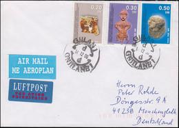 UNMIK Kosovo 1-3 Frieden MiF Lp-Brief GJILAN / GNJILANE14.12.00 Nach Deutschland - Unclassified