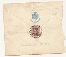 1926 AMBULANTE PALERMO MESSINA SU BUSTA CAMERA DEI DEPUTATI CON PARTENZA DA DECIFRARE - Storia Postale