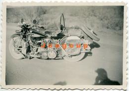 Old Photo Motorcycle Sidecar - Otros