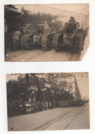 WW1 PHOTOS A NOS VALEUREUX ZOUAVES DEFILE Paul Deschanel ? CHAR RENAULT T17 HENRI BESSON ALGER - War, Military