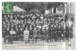 Nogent Le Rotrou Colonie Scolaire De Levallois Perret 1912 Groupe De Jeunes Filles - Nogent Le Rotrou