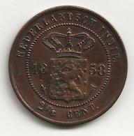 INDES NEERLANDAISES - 2 Et 1/2 Cent - 1858 - TB/TTB - Indes Néerlandaises