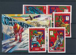 Olympische Spelen  1988 , Centraal Afrika  - Blok + Zegels  Postfris - Hiver 1988: Calgary