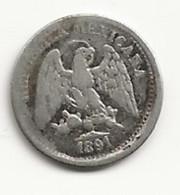 MEXIQUE - 5 Centavos - 1891 D°P - TB/TTB - Mexique