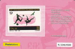 TESSERA FILATELICA  PALERMO CALCIO VALORE B ANNO 2020  (TF494 - Tarjetas Filatélicas