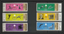 Nord Yemen YAR - 3593 N°1295/1300 A OR Gold ** MNH Jeux Olympiques Olympic Games Wold Peace 1971 - Verano 1968: México