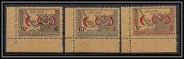 Nord Yemen YAR - 3994/ N°727/729 Croix Rouge Red Crescent  OR Gold Stamps Neuf ** MNH - Cruz Roja