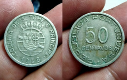 PORTUGAL ST. THOMAS And PRINCE 50 CENTAVOS 1948 Km# 8 (CX#01-351) - Sao Tome And Principe