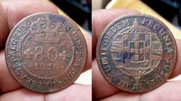 PORTUGAL ST. THOMAS And PRINCE 80 REIS 1820 (CX#01-352) - Sao Tome And Principe
