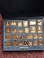 Schweiz Collection Militaria  25 Silbermedaillen Vergoldet ( 925 Ag) Um 1980 Feinsilbergehalt Um 616 Gr!!! - Elongated Coins