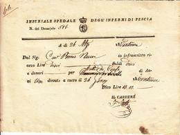 ** IMPERIALE SPEDALE DEGL' INFERMI DI PESCIA.- (PT).- 1829.-** - Italy