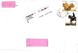 PORTOGALLO - 2021 Lettera Per L'estero Con 2 Francobolli (pane, Cavallo Lusitano) + Etichetta Poste CTT - 5628 - Covers & Documents