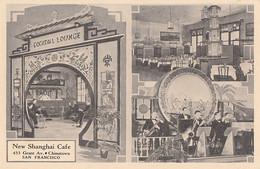 121 - Vintage 1939 Exposition - San Francisco California - New Shangai Cafe - Restaurant Food Entertainment  - 2 Scans - San Francisco
