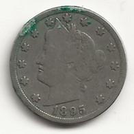 USA - 5 Cents - 1895 - TB/TTB - 1883-1913: Liberty (Liberté)