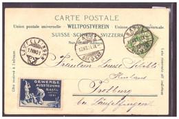 BASEL - VIGNETTE GEWERBE AUSSTELLUNG 1901 - TB - BS Basle-Town