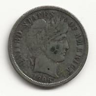 USA - One Dime - 1906 - TB/TTB - 1892-1916: Barber