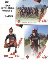 CARTES CYCLISME LOTTO - SOUDAL WOMEN'S 2021 ( 11 CARTES ) - Cycling