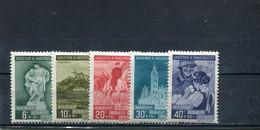 Hongrie 1938 Yt 519-523 * - Unused Stamps