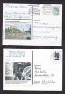 Germany: 5x Stationery Illustrated Postcard, 1990-2000, Tourism, Monuments, Statue, Various Cancels (traces Of Use) - Covers & Documents