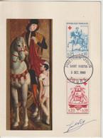 France Carte Maximum 1960 Croix Rouge 1278-1279 - 1960-69