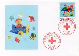 Timbre CROIX-ROUGE FRANCAISE - Premier Jour. Oblitération 9.11.2000 PARIS - Rotes Kreuz