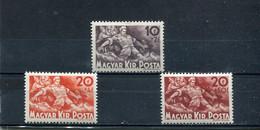 Hongrie 1940 Yt 550-552 * - Unused Stamps