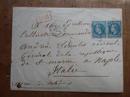 FRANCIA 1867 - Napoleone III° - Coppia Su Busta - Annulli Retro + Spese Postali - Other