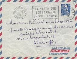 Martinique 1953 Fort De France Carnival Carnaval Slogan Cover - Carnaval