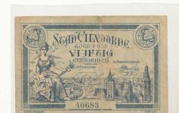 Noodgeld VILVOORDE  APRIL 1918 WO1  OORLOG GUERRE WAR MONEY   De L'argent  10 X6.5 CM  Verrebroek - Non Classificati